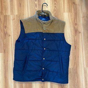 J Crew Outerwear Trucker/Puffer Men's Vest Sz L